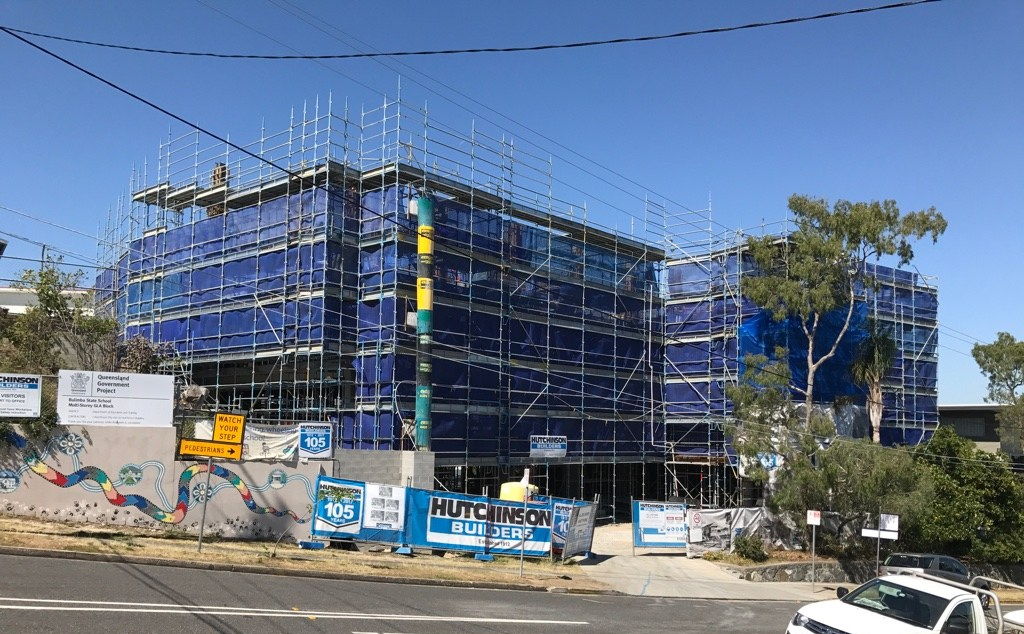 Timelapse of Bulimba State School's new 10 GLA and Library Building by Biscoe Wilson Architects