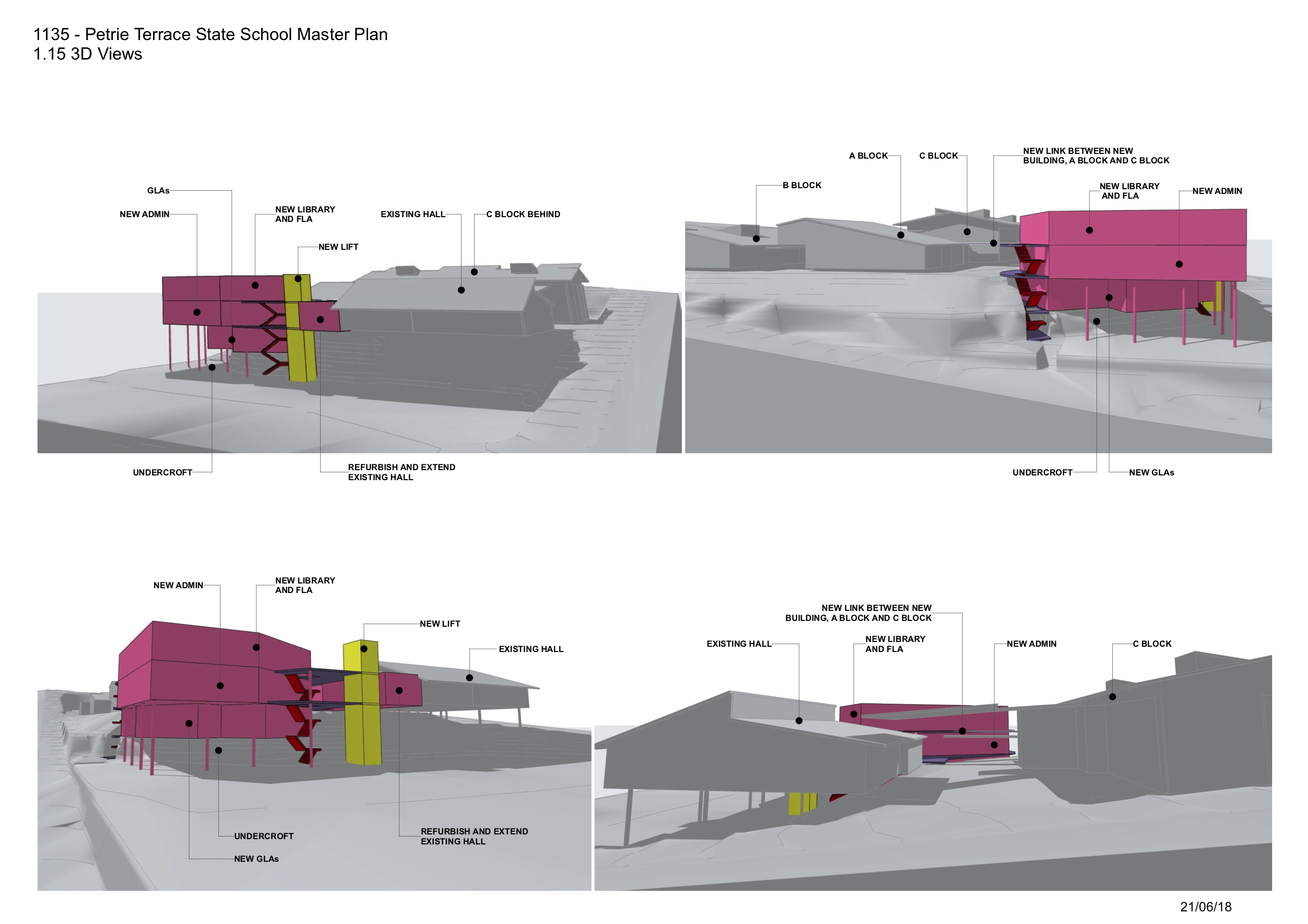 Petrie Terrace State School Master Plan by biscoe wilson | architects